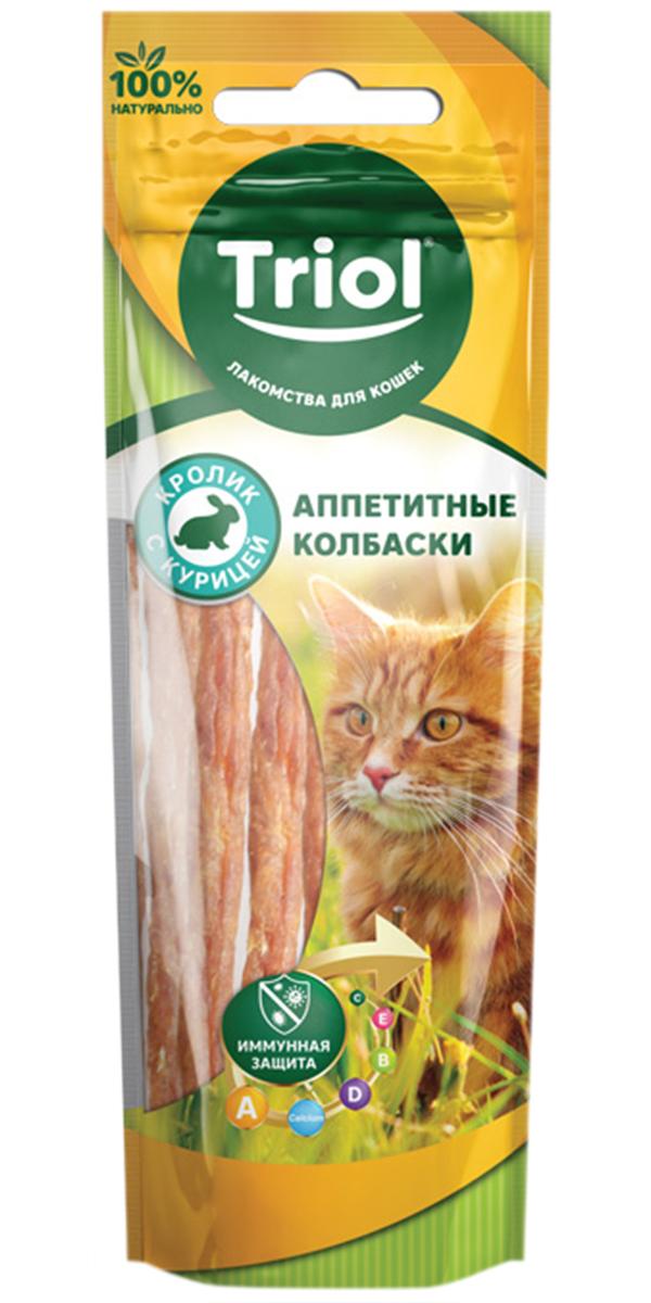 Лакомство Triol для кошек колбаски аппетитные