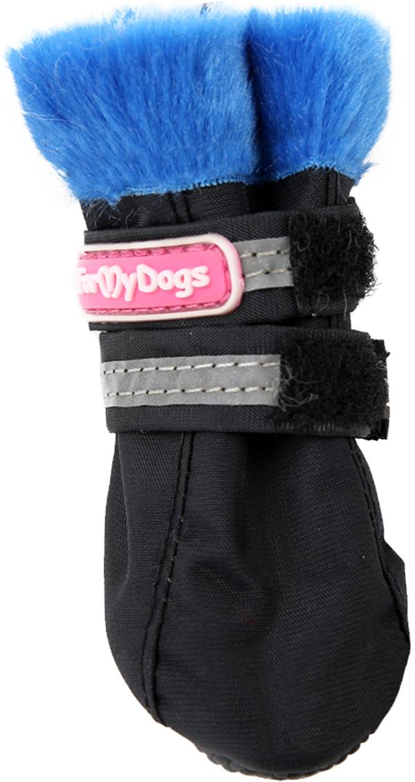 For My Dogs сапоги для собак черно/синие Fmd639-2019 Bl/B (4)