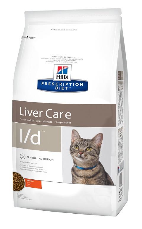 Hill's Prescription Diet L/d для взрослых кошек при заболеваниях печени (1,5 кг) фото
