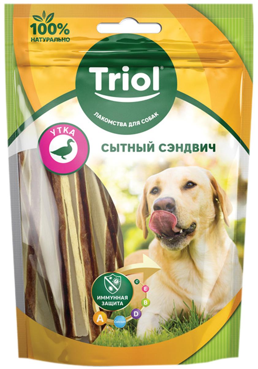 Лакомство Triol для собак сэндвич сытный с уткой 70 гр (1 шт)