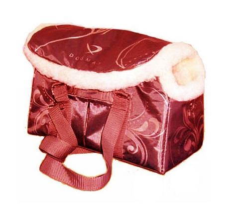 Dogman сумка-переноска модельная № 8м, зима, иск. мех, красная, 38 х 18 х 25 см (1 шт)