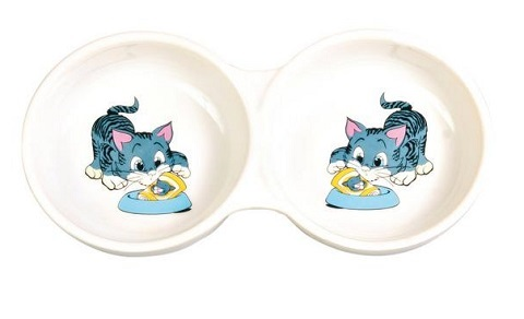 Trixie керамическая миска двойная (0,15 л) фото