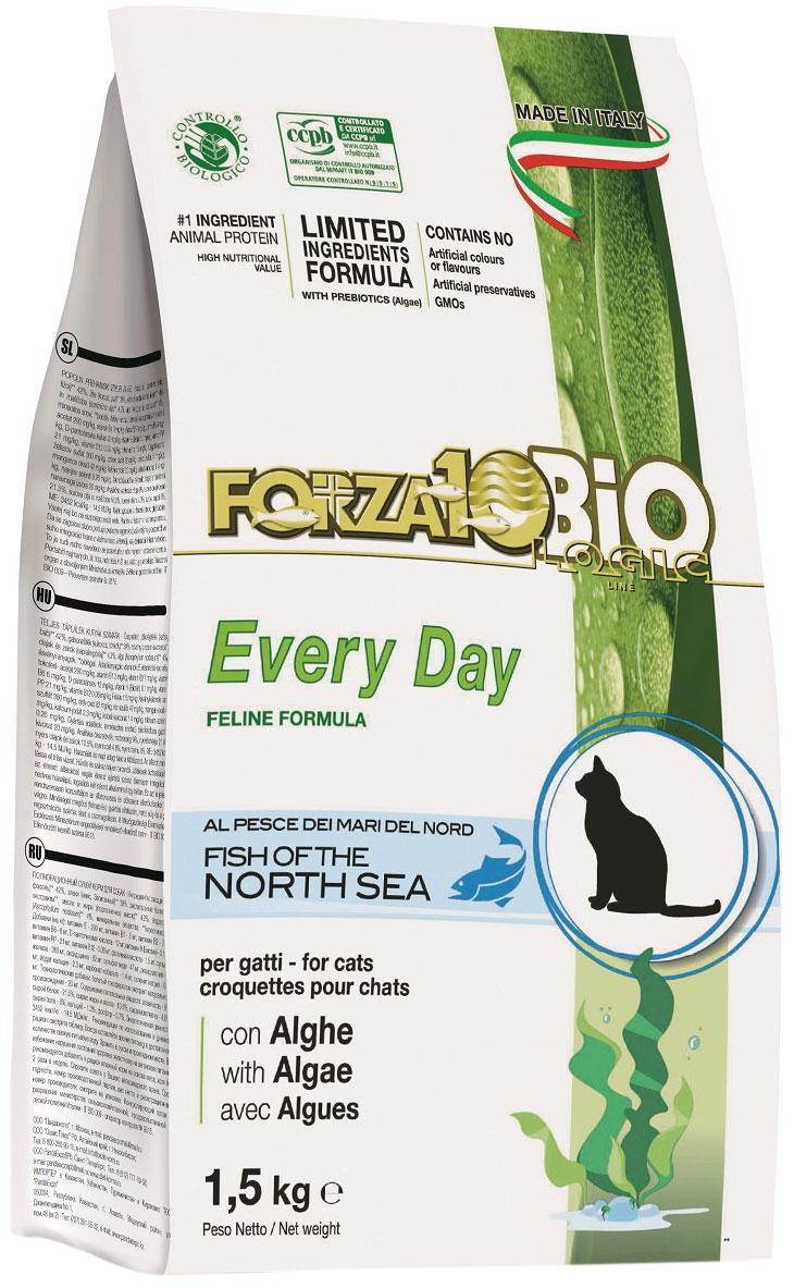 Forza10 Cat Bio Everyday для взрослых кошек с рыбой и водорослями (1,5 кг)