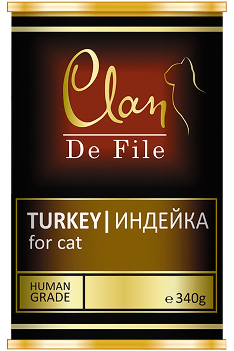 Clan De File монобелковые для взрослых кошек с индейкой (340 гр х 12 шт) clan консервы clan de file для кошек с индейкой 100 г 16 шт