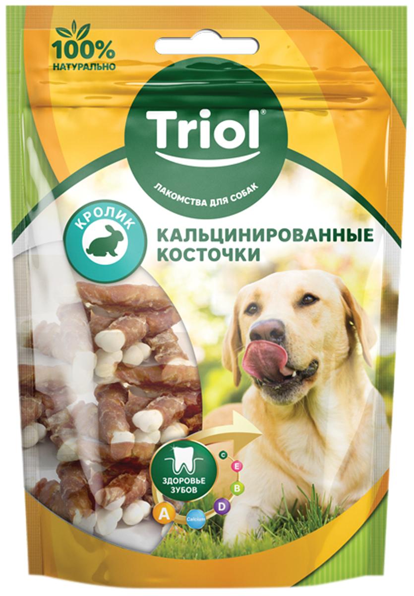 Лакомство Triol для собак косточки кальцинированные с кроликом 70 гр (1 шт)