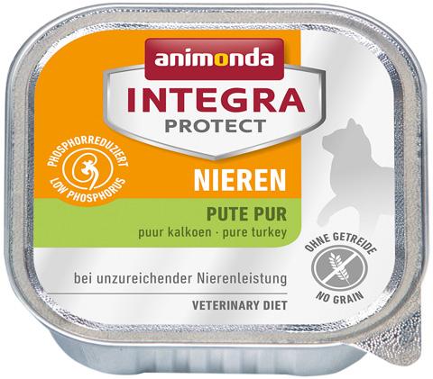 Animonda Integra Protect Cat Nieren Renal для взрослых кошек при хронической почечной недостаточности с индейкой 100 гр (100 гр)