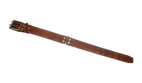 Ошейник для собак кожаный коньячный 54 - 68 см x 45 мм Аркон (1 шт)