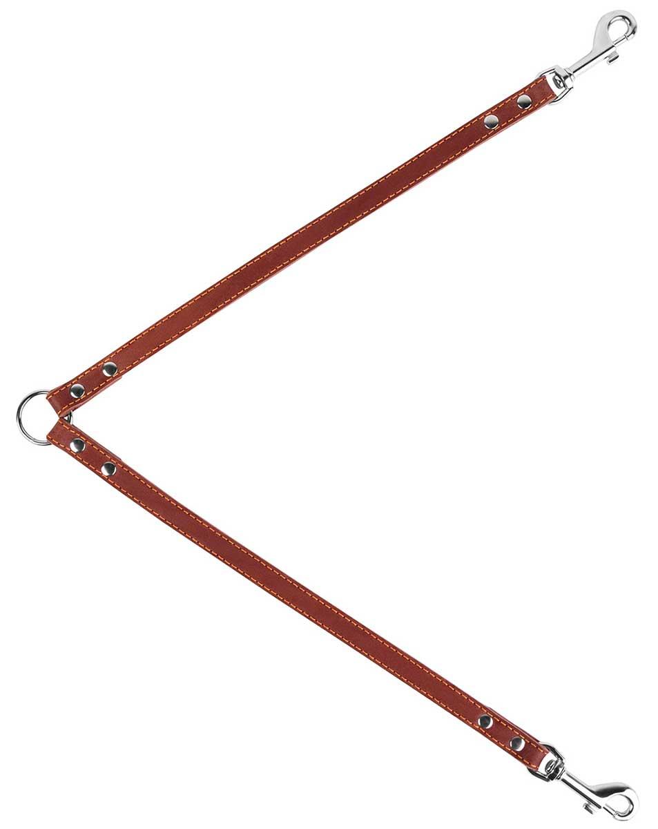 Сворка кожаная для собак коричневая 14 мм 40 см Collar (1 шт)