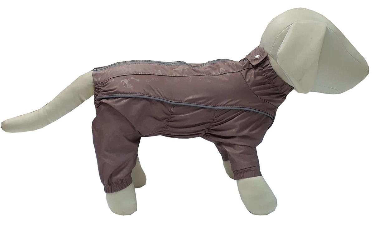 Osso Fashion дождевик для собак всех пород какао для девочек (65-1)