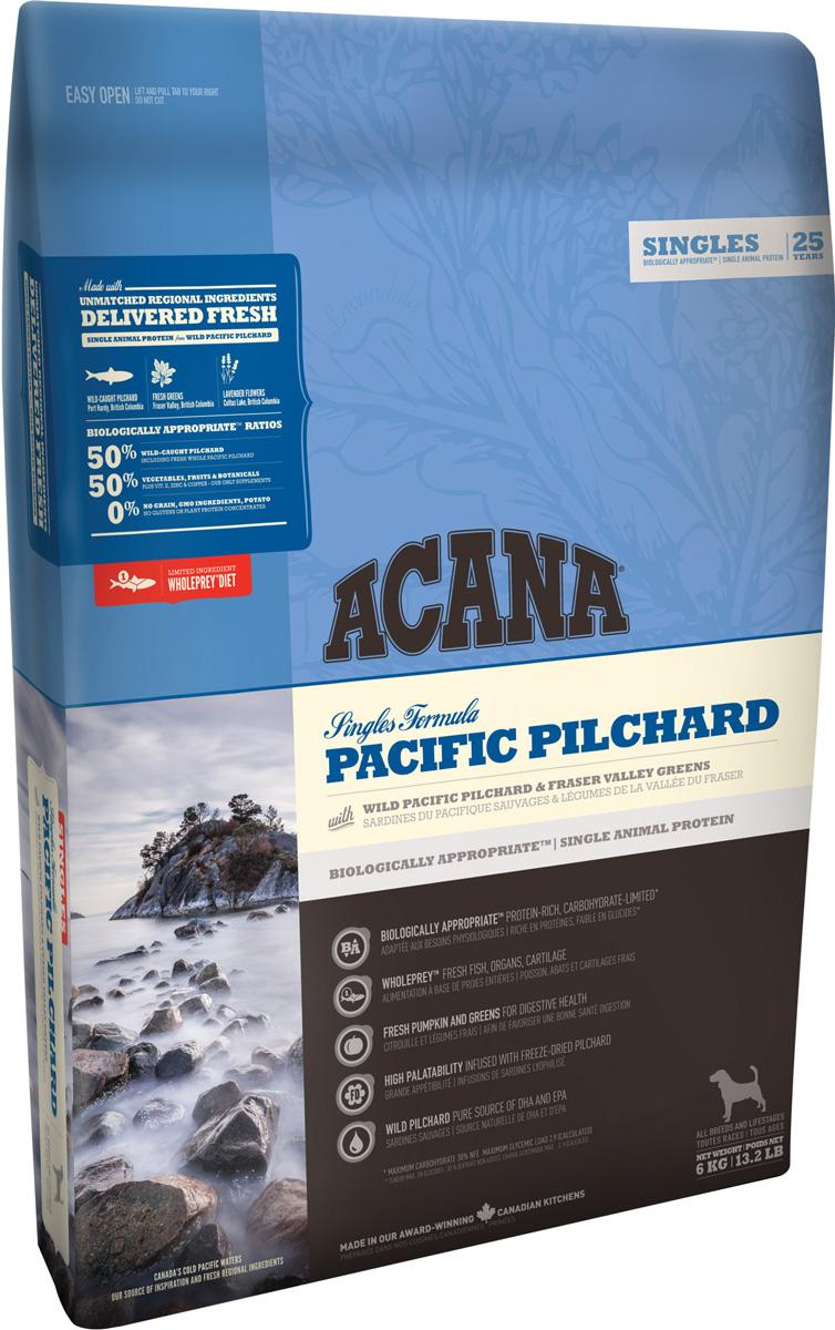 Acana Singles Pacific Pilchard монобелковый для собак и щенков всех пород с тихоокеанской сардиной (11,4 + 11,4 кг)