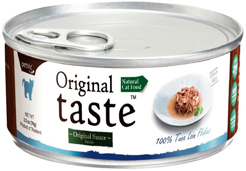Pettric Original Taste Adult Cat Grain Free Tuna беззерновые для взрослых кошек с тунцом в соусе  (70 гр)