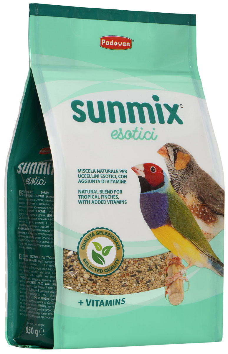 Padovan Sunmix Esotici корм для тропических птиц (850 гр) фото