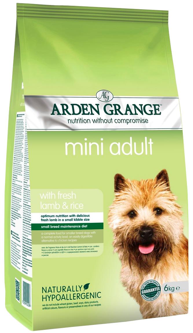 Arden Grange Adult Mini Lamb & Rice для взрослых собак маленьких пород с ягненком и рисом (6 + 6 кг)