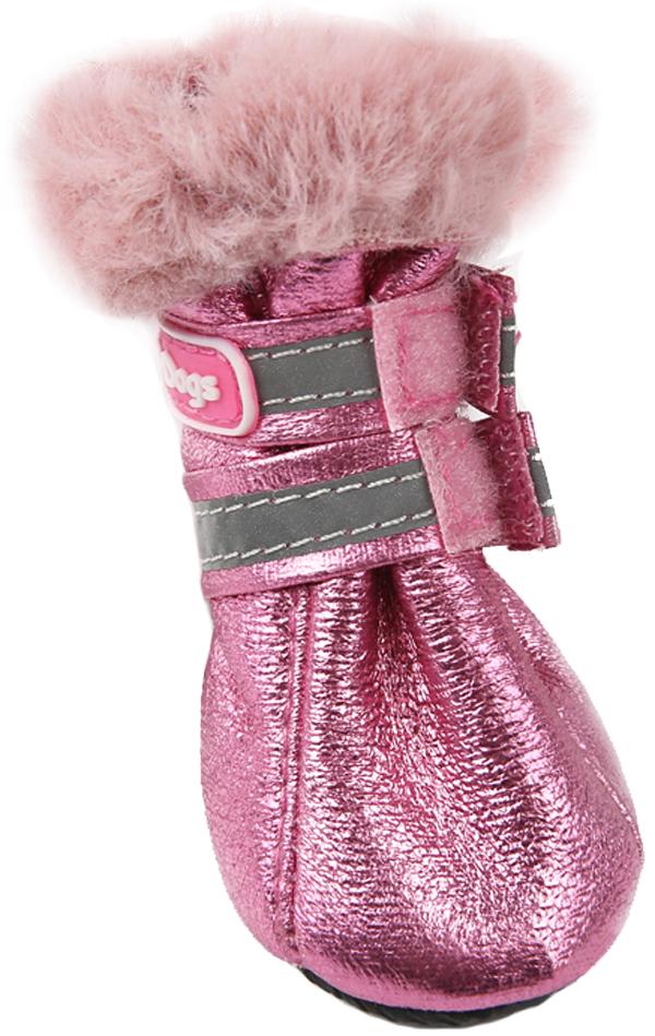 For My Dogs сапоги для собак зимние розовые металлик Fmd643-2019 P (5)