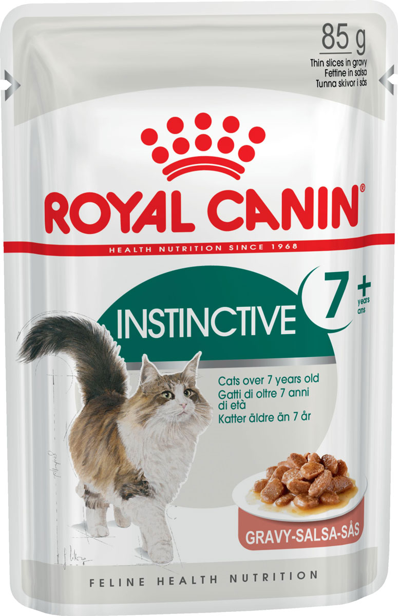 Royal Canin Instinctive 7+ для пожилых кошек старше 7 лет в соусе 85 гр (85 гр х 12 шт) фото