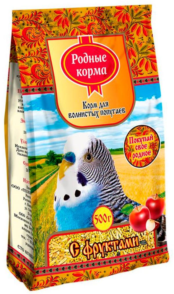 Родные корма корм для волнистых попугаев с фруктами (500 гр) фото