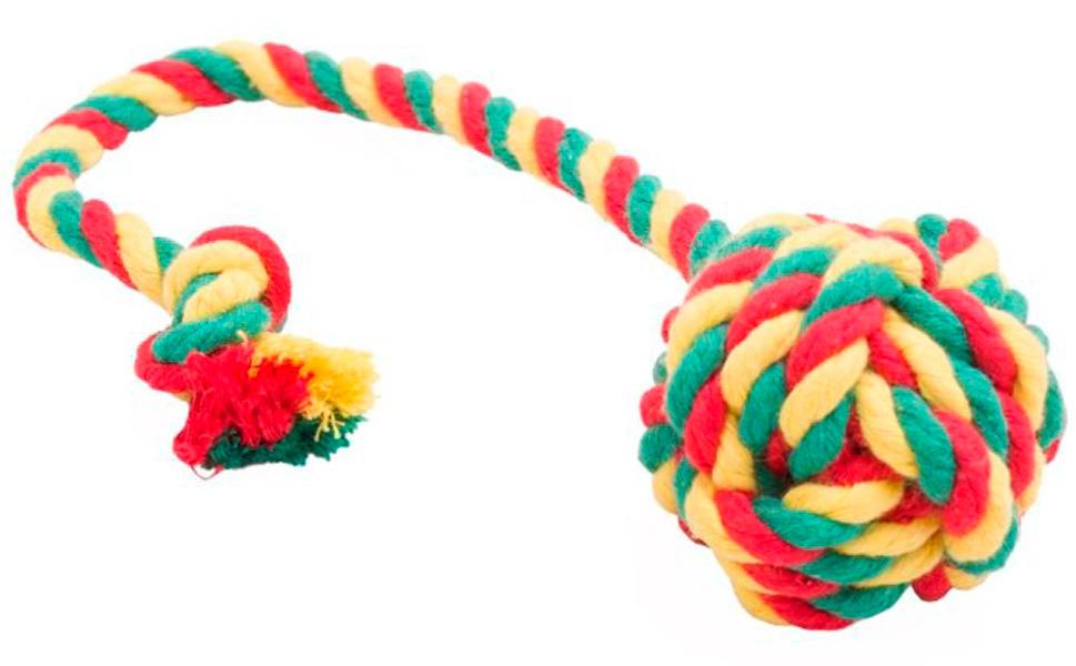 Мяч для собак Doglike Dental Knot канатный цветной средний (1 шт)