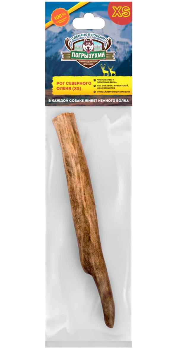 Лакомство Погрызухин для собак рог северного оленя Xs (1 шт)