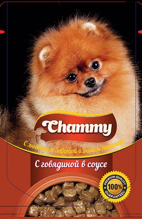 Chammy для взрослых собак с говядиной в соусе 85 гр (85 гр)