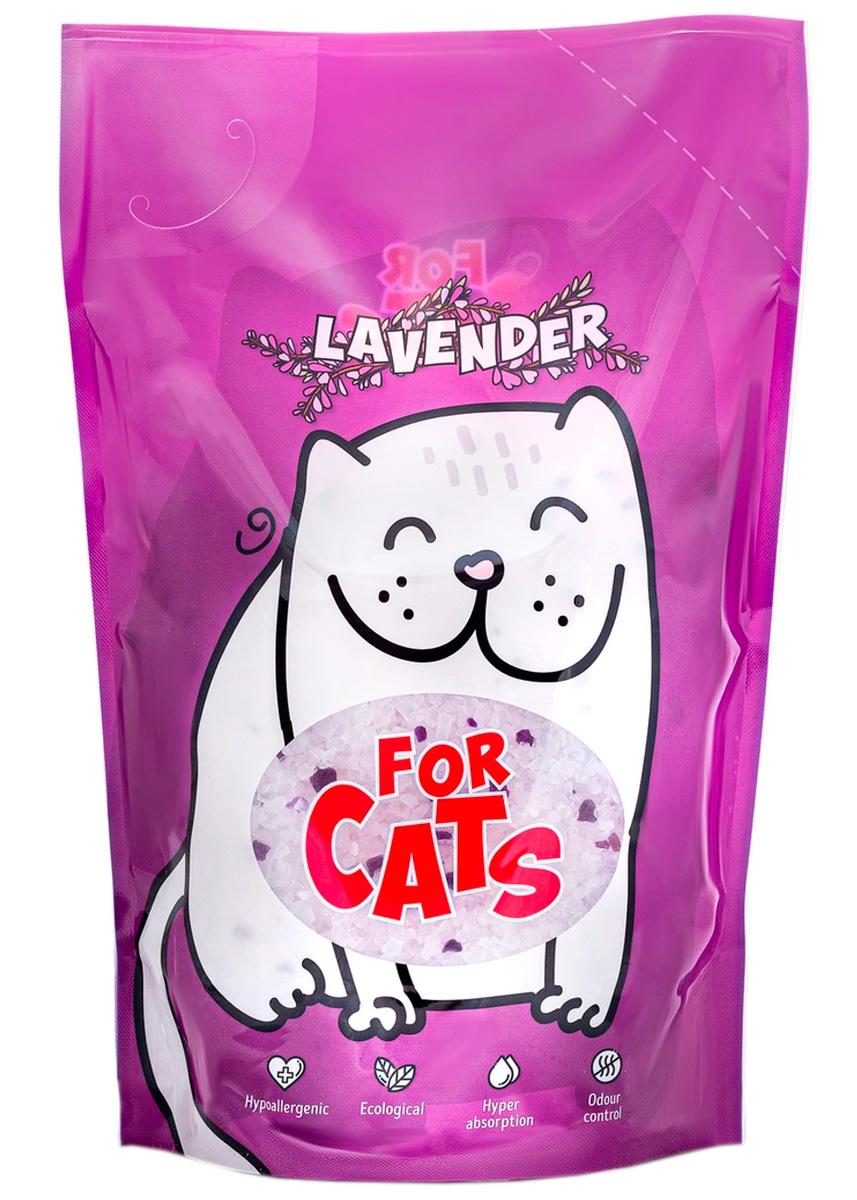 For Cats наполнитель силикагелевый для туалета кошек с ароматом лаванды (8 л) for cats наполнитель силикагелевый для туалета кошек с ароматом зеленого чая 8 л