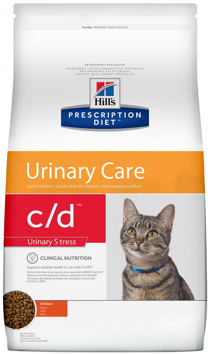 Hill's Prescription Diet C/d Urinary Stress для взрослых кошек стресс при цистите (0,4 кг)