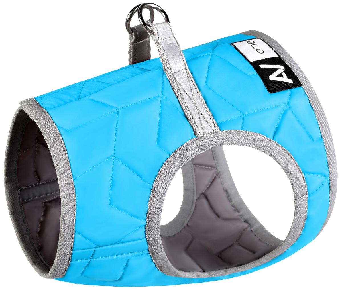 Шлея мягкая для собак Collar AiryVest One синяя (xs2) фото