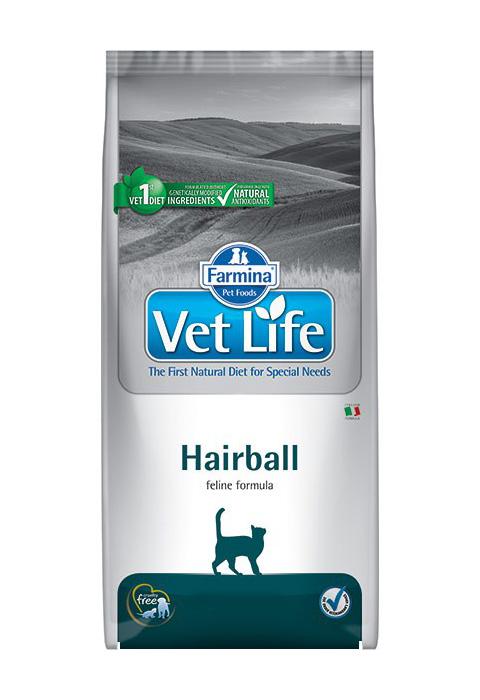 Farmina Vet Life Feline Hairball для взрослых кошек для вывода шерсти (0,4 кг)