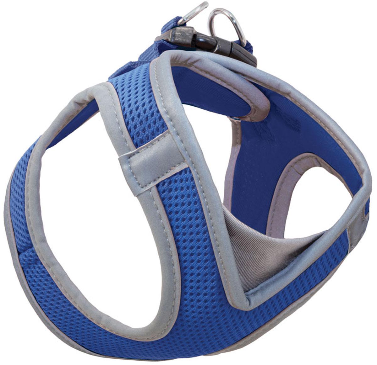 Шлейка жилетка мягкая для собак Triol Xs нейлоновая синяя 32 - 36 см (1 шт)