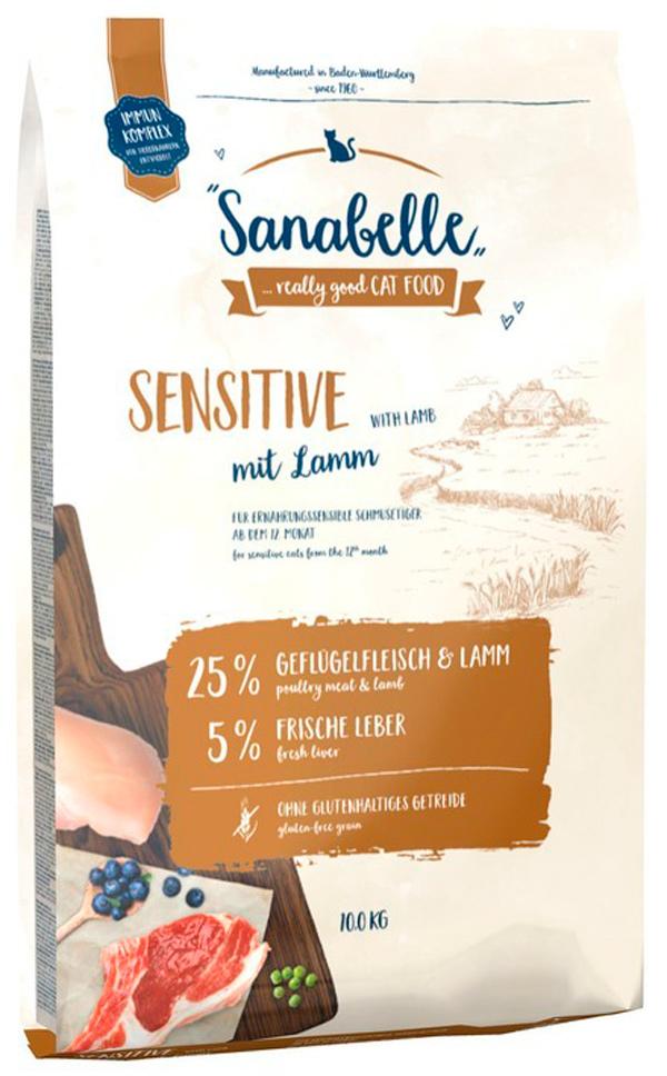Bosch Sanabelle Sensitive Lamm для взрослых кошек при аллергии с ягненком (0,4 кг)