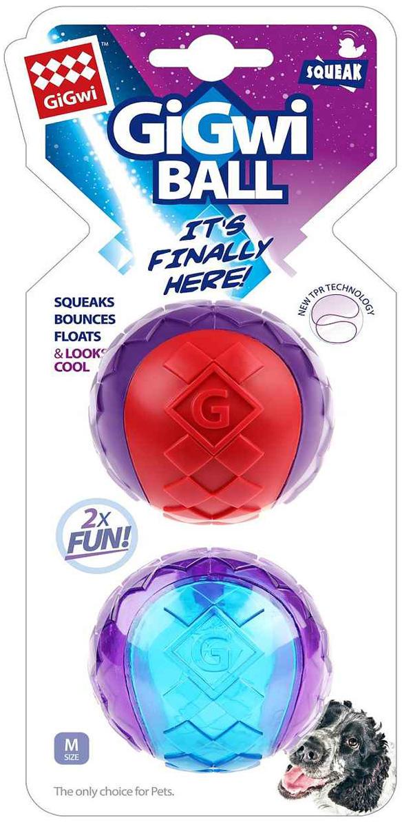 Игрушка для собак GiGwi Ball два мяча с пищалкой 6 см (1 шт)