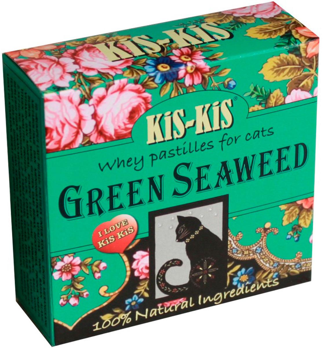 Лакомство Kis-kis Pastils Green Seaweed витаминизированное для кошек с морскими водорослями 60 гр (1 шт)