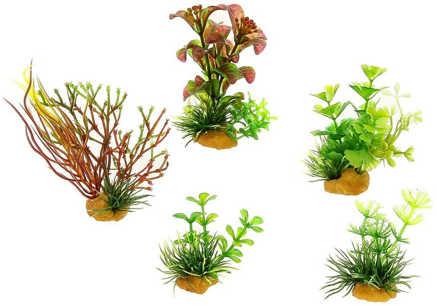 Набор пластиковых растений для аквариума Prime Pr-70606 уп. 5 шт (1 уп) 0 pr на 100