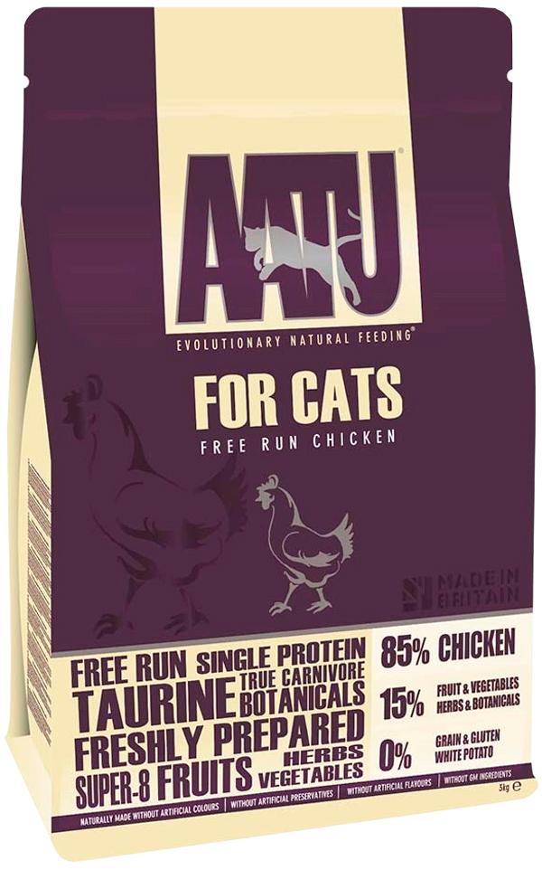 Aatu Cat Chicken беззерновой для взрослых кошек с курицей  (1 кг)