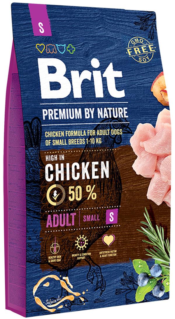 Brit Premium By Nature Adult S для взрослых собак маленьких пород (1 кг) фото