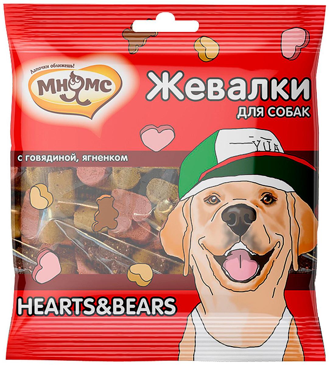 Лакомство мнямс жевалки Hearts & Bears для собак с говядиной и ягненком (150 гр)