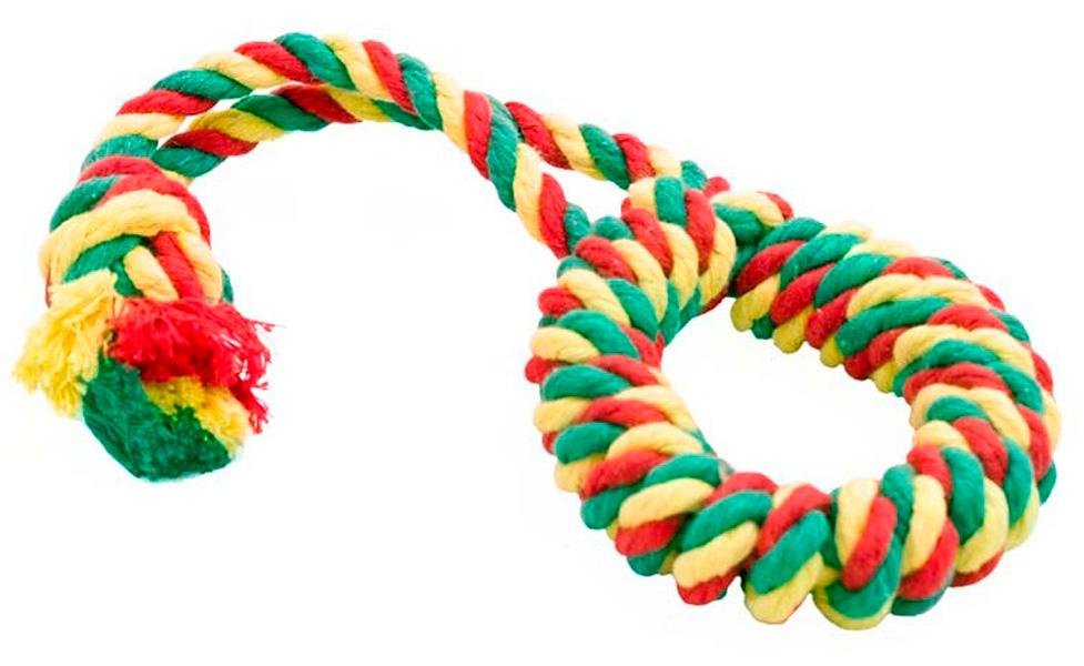 Игрушка для собак Doglike Dental Knot Кольцо канатное цветное малое (1 шт)