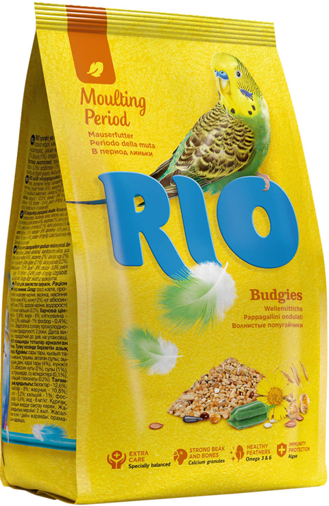Rio Budgies корм для волнистых попугаев в период линьки (1 кг)