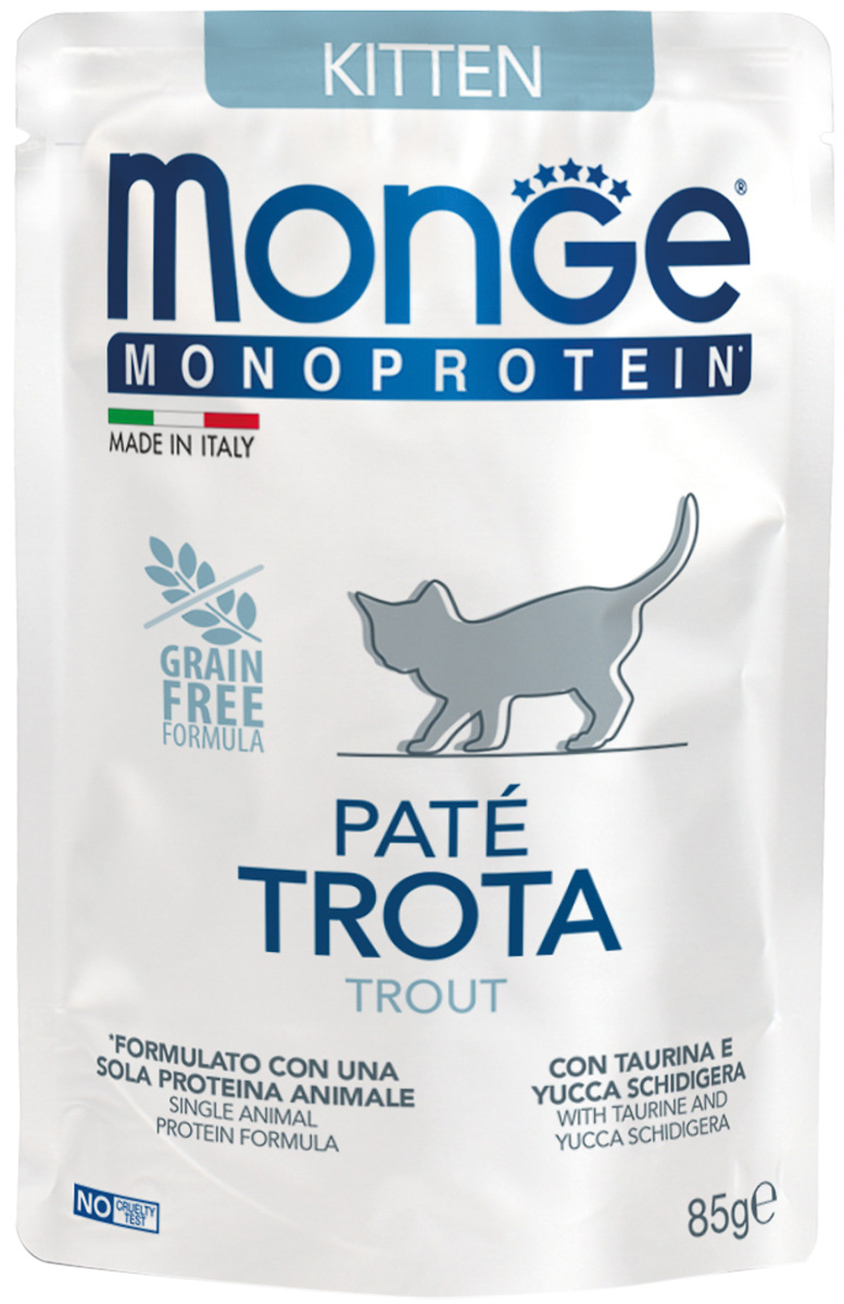 Monge Monoprotein Kitten монобелковые для котят с форелью (85 гр)