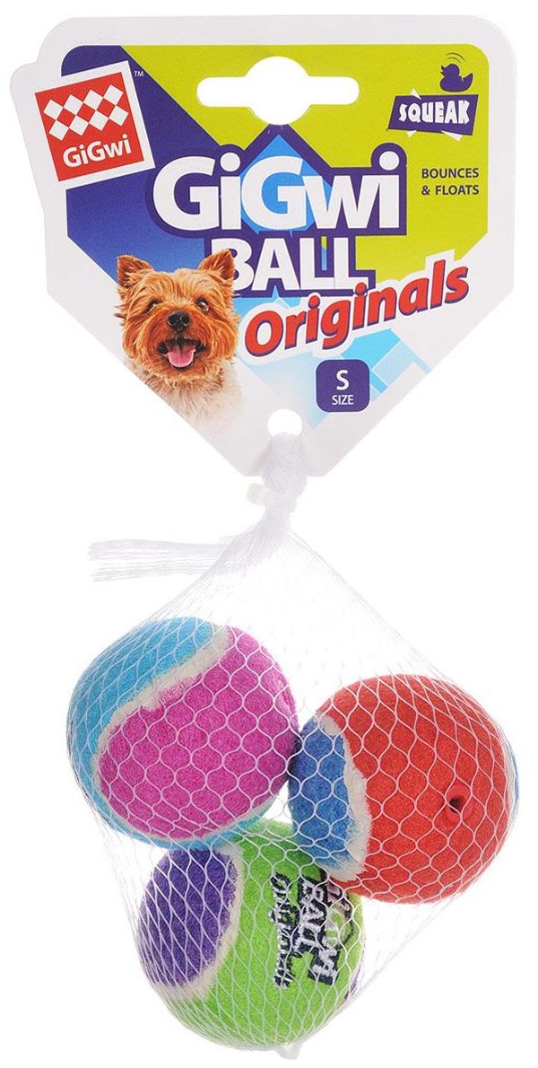 Игрушка для собак GiGwi Ball Originals три мяча с пищалкой 4 см (1 шт)