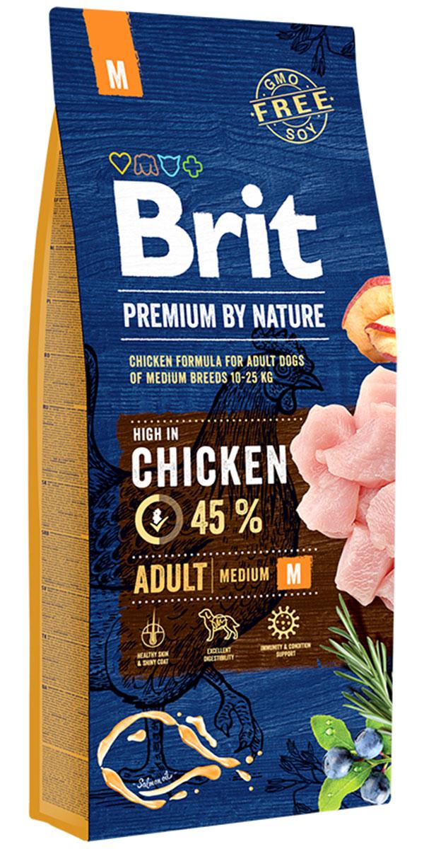 Brit Premium By Nature Adult M для взрослых собак средних пород (8 + 8 кг)