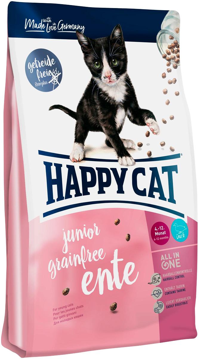 Happy Cat Supreme Junior Grainfree беззерновой для котят с уткой (0,3 кг)