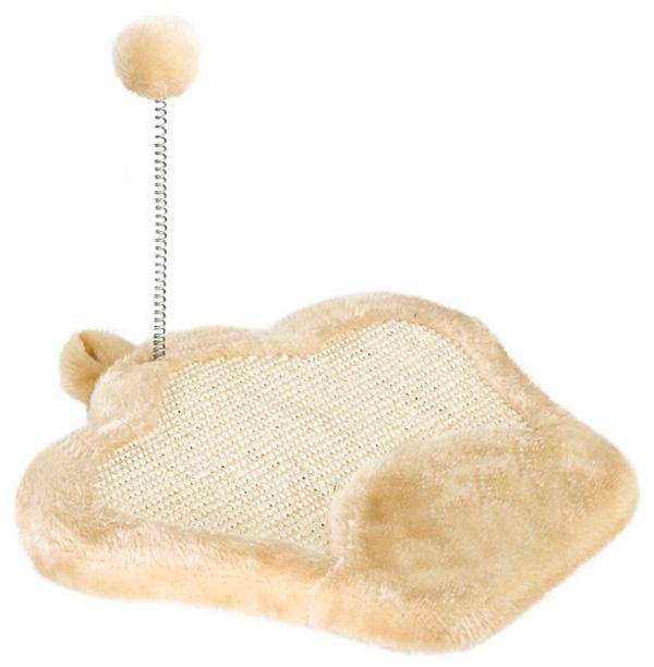 Когтеточка коврик Ferplast Pa 5620 с мячиком на пружине 35 x 33 x 27 см (1 шт) домик когтеточка меридиан угловой д 436 зе трехэтажный зебра 42 x 42 x 115 см