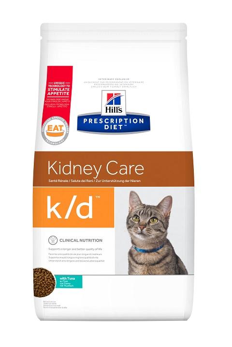 Hill's Prescription Diet K/d для взрослых кошек при заболеваниях почек и мочекаменной болезни (оксалаты, ураты) с тунцом (1,5 кг)