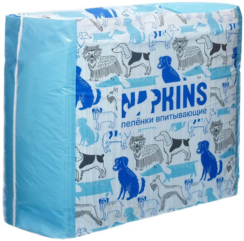 Napkins пеленки впитывающие гелевые для животных 60 х 60 см (30 шт)