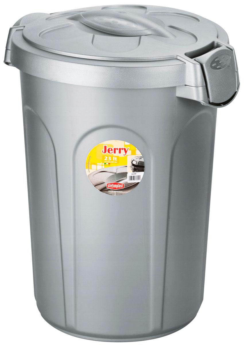 Контейнер для корма Stefanplast Jerry серебряный 8 кг 23 л (1 шт) фото