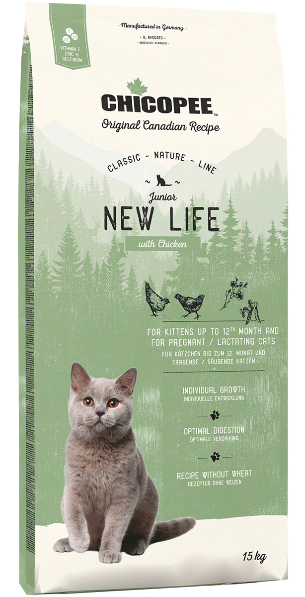 Chicopee Classic Nature Line Cat Junior New Life для котят с курицей (1,5 кг)