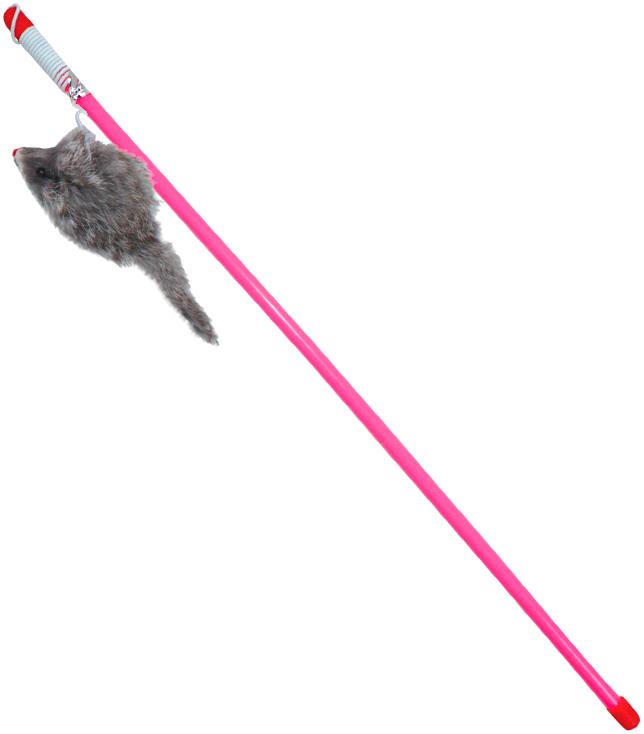 Triol B005 удочка-дразнилка с серой мышкой (1 шт) фото