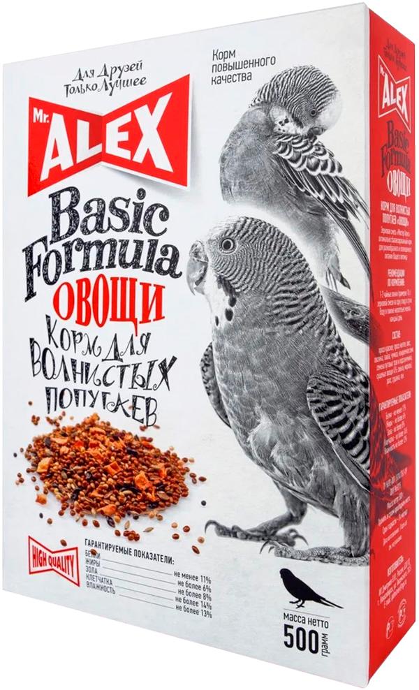 Mr.alex вasic Овощи корм для волнистых попугаев (500 гр)
