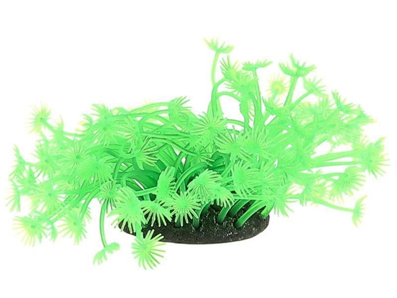 Декор для аквариума Коралл силиконовый Vitality зеленый 7,5 х 7,5 х 10 см (1 шт)