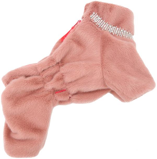 For My Dogs комбинезон-шубка для собак розовый для девочек Fw724-2019 F (16)